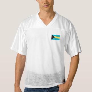 バハマの旗 メンズフットボールジャージー