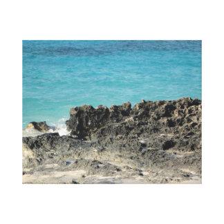 バハマの海岸線 キャンバスプリント