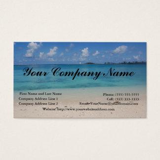 バハマの灯台およびビーチの名刺Templ 名刺