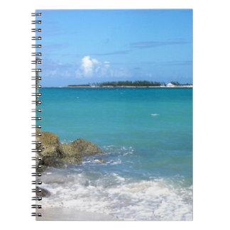 バハマの白い砂のビーチ ノートブック