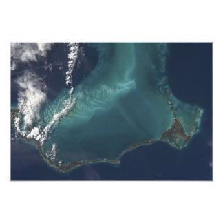 バハマの長く狭いEleuthraの島 フォトプリント