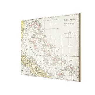 バハマ(1901年)のヴィンテージの地図 キャンバスプリント