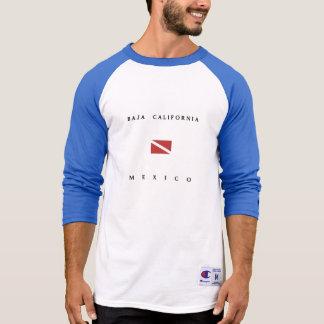 バハ・カリフォルニア州メキシコのスキューバ飛び込みの旗 Tシャツ