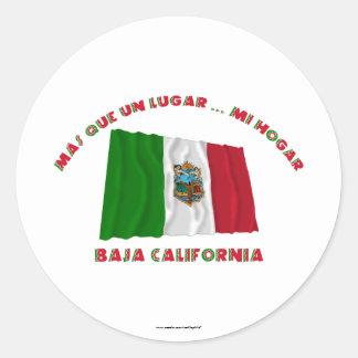 バハ・カリフォルニア州- Más Que国連Lugar… Mi Hogar ラウンドシール
