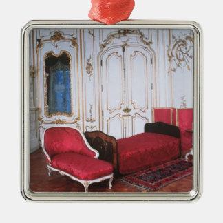 ババリアのエリザベスの寝室 シルバーカラー正方形オーナメント