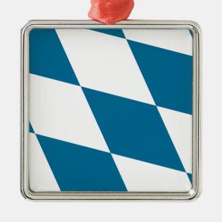 ババリアの旗 シルバーカラー正方形オーナメント
