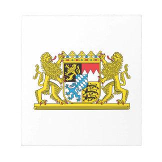 ババリアの紋章付き外衣 ノートパッド