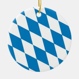 ババリアドイツ土地の旗 セラミックオーナメント
