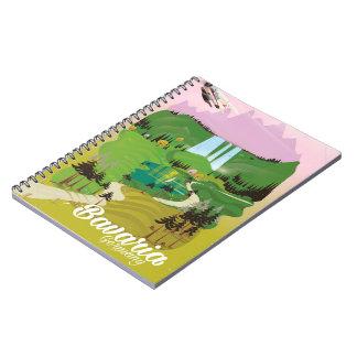 ババリアドイツ景色旅行プリント ノートブック