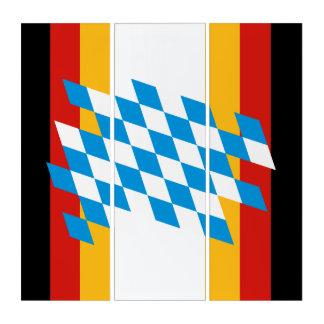 ババリア色のドイツの旗及び州 トリプティカ