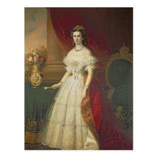 ババリア1863年の皇后エリザベス ポストカード