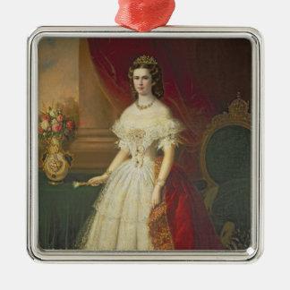 ババリア1863年の皇后エリザベス メタルオーナメント