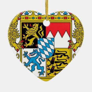 ババリア(ドイツ)の紋章付き外衣 陶器製ハート型オーナメント
