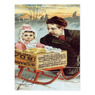 バビットメタルの粉石鹸 ポストカード