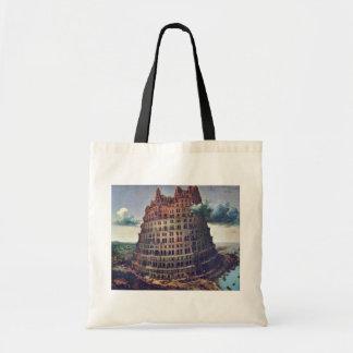 バベルの塔。 Pieter Bruegel著 トートバッグ