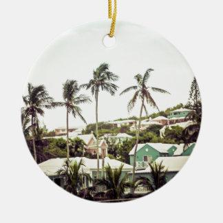 バミューダ島のヤシの木 セラミックオーナメント