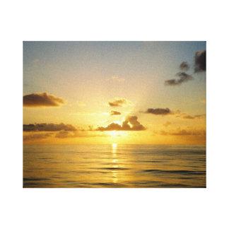 バミューダ島の北の日没 キャンバスプリント