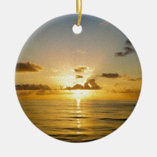 バミューダ島の北の日没 セラミックオーナメント
