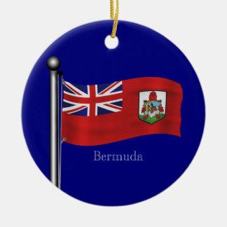 バミューダ島の振る旗 セラミックオーナメント