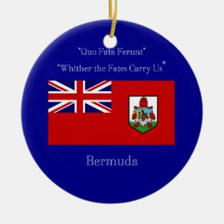 バミューダ島の旗およびモットー セラミックオーナメント