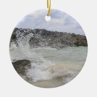 バミューダ島の波の写真のオーナメント セラミックオーナメント