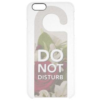 バラおよびLillyの花束の発言を妨げないで下さい クリア iPhone 6 Plusケース