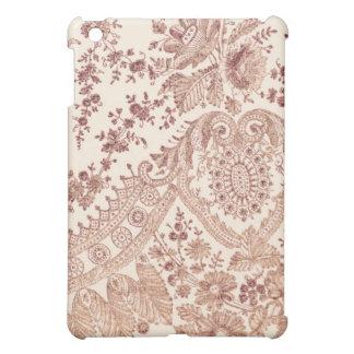 バラが付いているピンクのレース iPad MINIケース