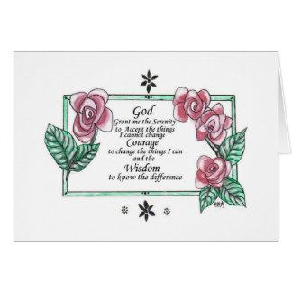 バラが付いている平静の祈りの言葉 カード