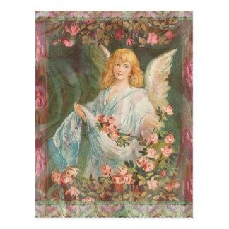 バラとの天使 葉書き