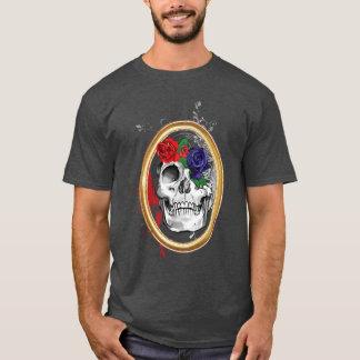 バラとのSkully Tシャツ