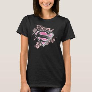 バラとのSupergirlのロゴ Tシャツ