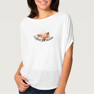 バラのためのコーヒーはティー-明るい版--を緩めます Tシャツ