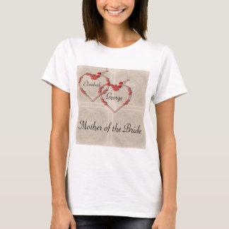 バラのつぼみのハート Tシャツ