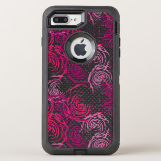 バラのプリント オッターボックスディフェンダーiPhone 8 PLUS/7 PLUSケース