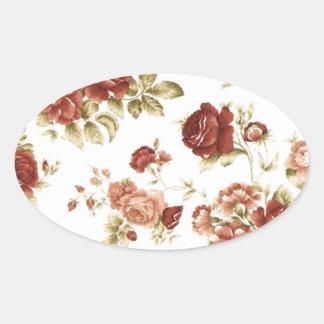 バラのボルドーのburgendy背景 楕円形シール