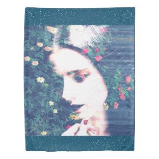 バラのロマンチックな気分の女の子の美しいの花柄の夏 掛け布団カバー