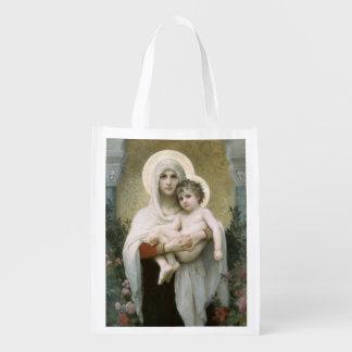 バラの再使用可能な買い物袋のマドンナ エコバッグ