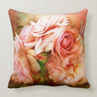 バラの奇跡-モモ-芸術デザイナー枕 クッション