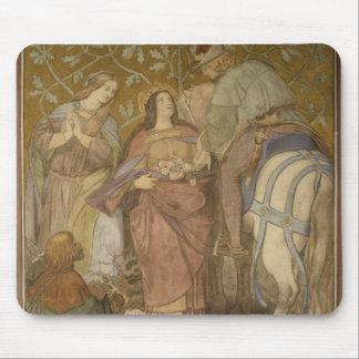 バラの奇跡、c.1855 マウスパッド