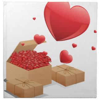 バラの箱 ナプキンクロス