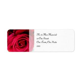 バラの結婚を想像して下さい 返信用宛名ラベル