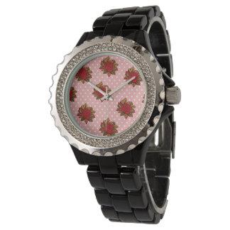 バラの腕時計 腕時計
