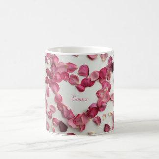 バラの花びらのマグの振りかけること コーヒーマグカップ