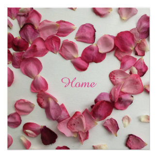 バラの花びらの振りかけることはポスターを完成します ポスター