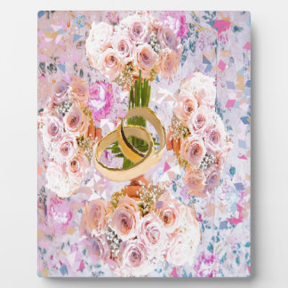 バラの花束のこの十字はあなたの愛を賛美します フォトプラーク