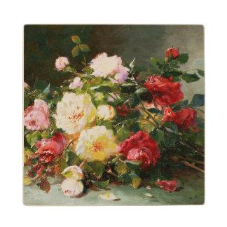バラの花束 ウッドコースター