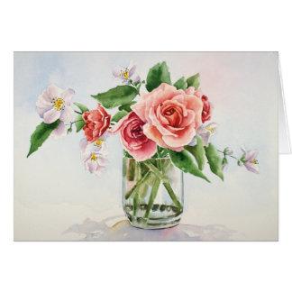 バラの花束 カード