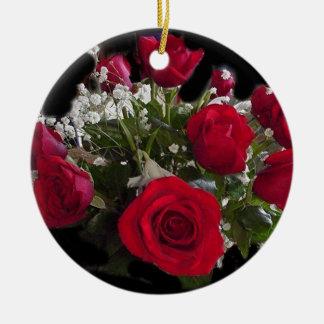 バラの花束 セラミックオーナメント