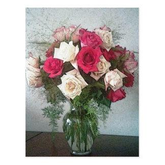 バラの花束 ポストカード