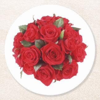 バラの花束 ラウンドペーパーコースター